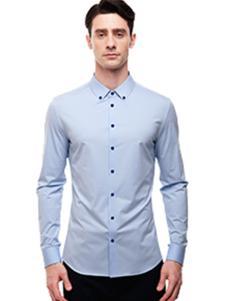 微奢零度男装蓝色衬衫