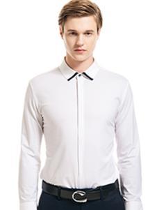 微奢零度男装白色百搭衬衫