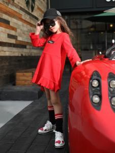 卡儿菲特新款时尚休闲红色卫衣