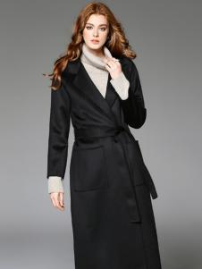 曼柏优妮新款黑色大衣