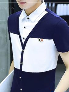 JOINHOT男装假两件衬衫