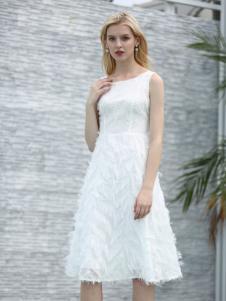 布伦圣丝BLSS新款无袖连衣裙