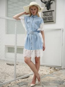布伦圣丝新款时尚个性衬衫裙