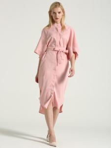 布伦圣丝BLSS新款粉色连衣裙