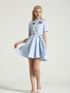 布伦圣丝新款时尚休闲连衣裙