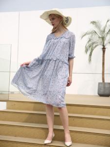 布伦圣丝新款优雅淑女气质连衣裙