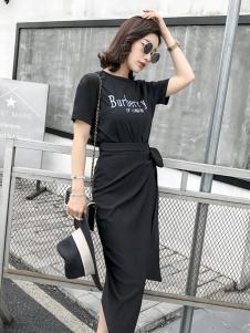 蔓黎国际女装字母连衣裙
