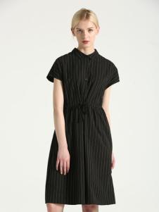 布伦圣丝BLSS新款黑色连衣裙