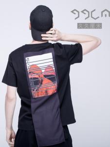 99CM春夏新款黑色印花T恤