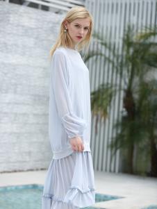 布伦圣丝新款气质淑女优雅连衣裙