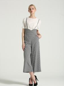 布伦圣丝新款时尚个性背带裤