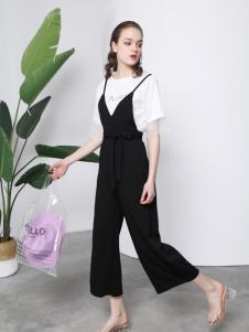 欧玥新款时尚个性吊带连体裤