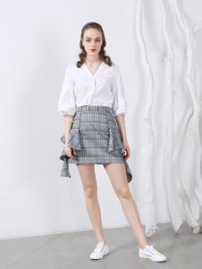 欧玥新款欧式时尚V领衬衣