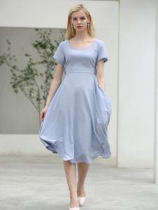 布伦圣丝BLSS新款蓝色连衣裙