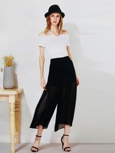 U-REETY女装休闲宽松雪纺裤