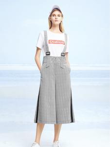 迪笛欧夏装新款背带裤
