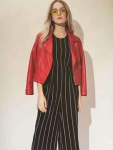 惠之良品女装红色皮衣