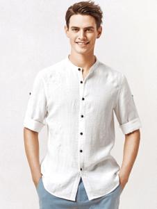 杉杉男装白色衬衫18新款