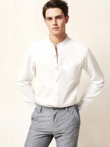 杉杉男装百搭白色衬衫