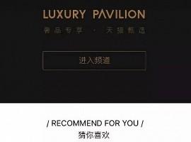 天猫的奢侈品平台建立了奢侈品忠诚俱乐部