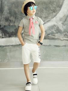 小熊空间童装修身衬衫