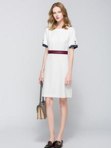 太和女装新款白色连衣裙