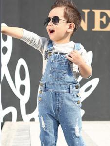 大头儿子童装背带牛仔裤