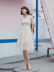 艾诺绮气质淑女修身连衣裙