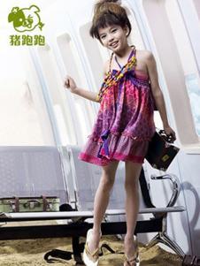 猪跑跑童装女童连衣裙样品