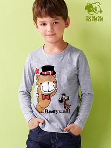 猪跑跑童装男童上衣样品