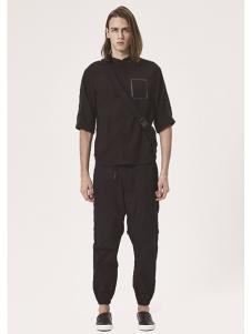 JPE新款黑色休闲套装