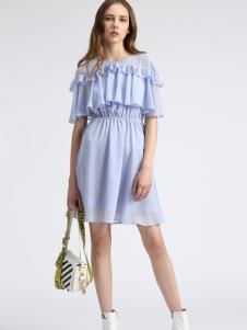 夺宝奇兵女装蓝色连衣裙