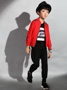 先飞鸟童装红色时尚外套