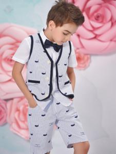 诺贝达童装灰色时尚套装