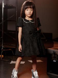 吉曦宝贝童装黑色刺绣女裙