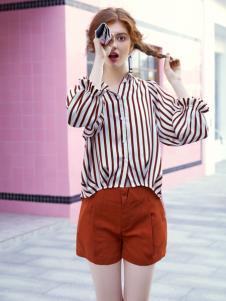 贝珞茵女装18条纹衬衫