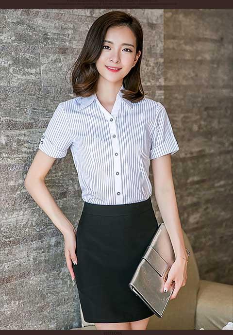 女士职业衬衫专业定制女性服装供应