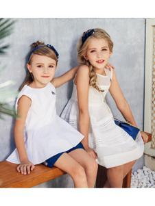 暇步士童装 白色无袖女裙