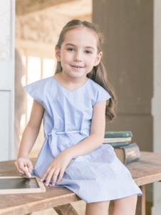 五月童品童装浅蓝女裙