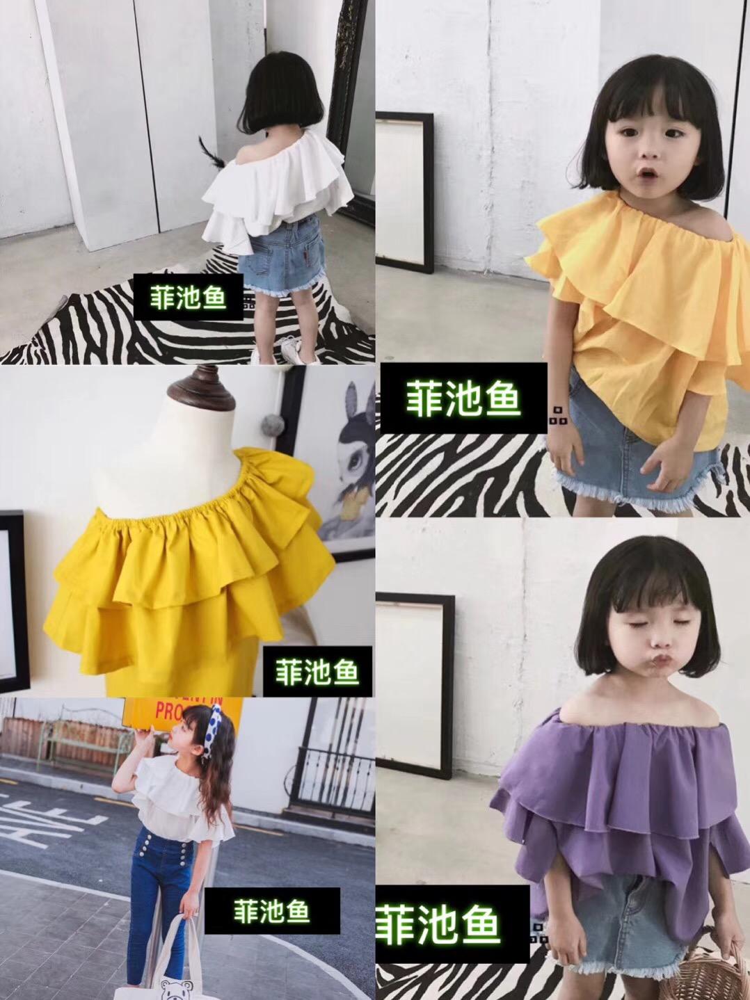 广西南宁日韩风童装短袖T恤套装批发一手货源