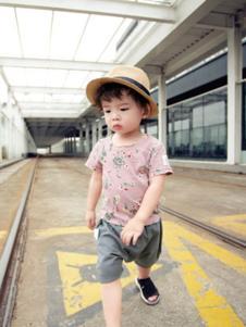 萌度童装粉色短袖T恤