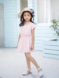 西瓜王子气质蕾丝拼接短袖连衣裙