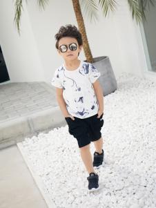 西瓜王子时尚个性印花短袖男T恤