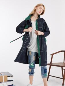 钡禾新款休闲时尚格子外套
