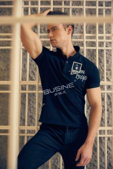 步西尼男装黑色衬衫