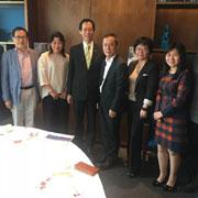 全国政协香港委员彭长纬先生与梵思诺集团董事长陈国雄先生一行应邀访问香港理工大学