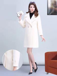 艾尔菲洋女装白色宽松大衣