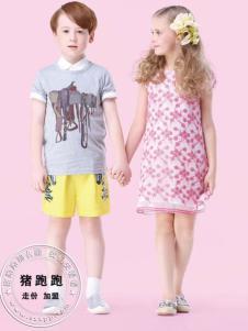 猪跑跑童装时尚产品展示