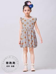 猪跑跑童装女童夏款裙子