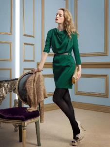 DYBULAFUN女装绿色包臀连衣裙